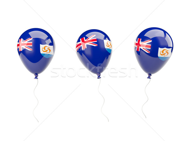 Air balloons with flag of anguilla Stock photo © MikhailMishchenko