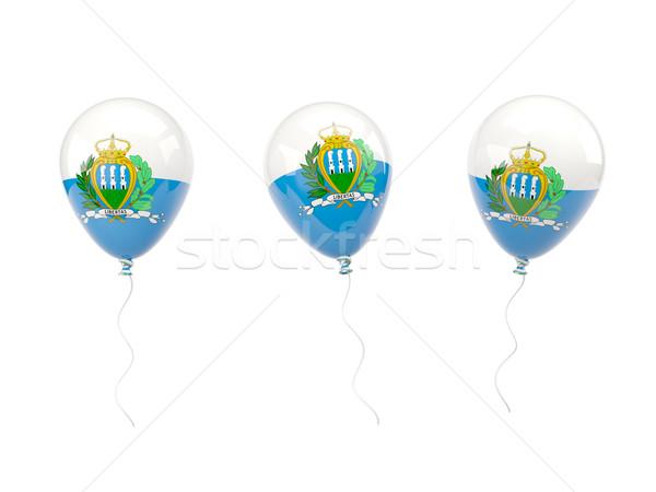 Air balloons with flag of san marino Stock photo © MikhailMishchenko