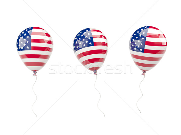 Air balloons with flag of united states of america Stock photo © MikhailMishchenko