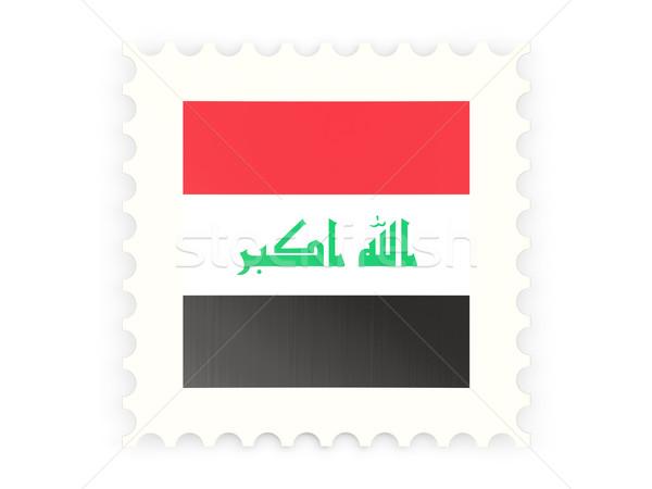 Postabélyeg ikon Irak izolált fehér posta Stock fotó © MikhailMishchenko