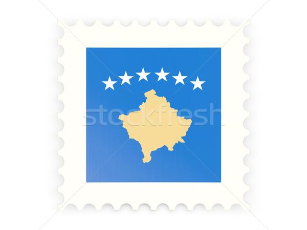 ícone Kosovo isolado branco assinar Foto stock © MikhailMishchenko