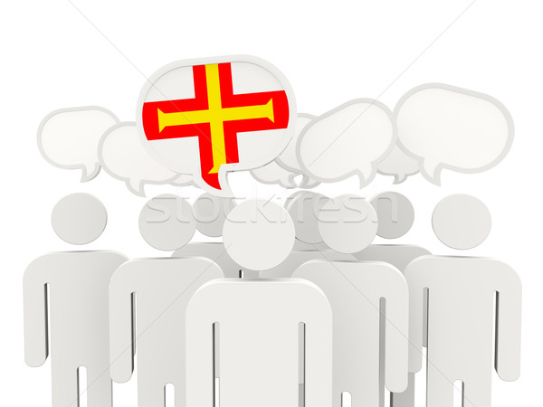 People with flag of guernsey Stock photo © MikhailMishchenko