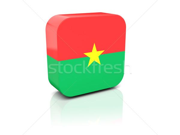 Piazza icona bandiera Burkina bianco paese Foto d'archivio © MikhailMishchenko