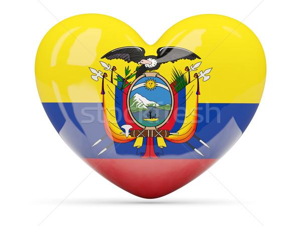 Hart icon vlag Ecuador geïsoleerd Stockfoto © MikhailMishchenko