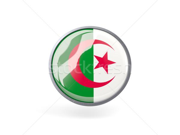 Icône pavillon Algérie métal cadre Voyage Photo stock © MikhailMishchenko