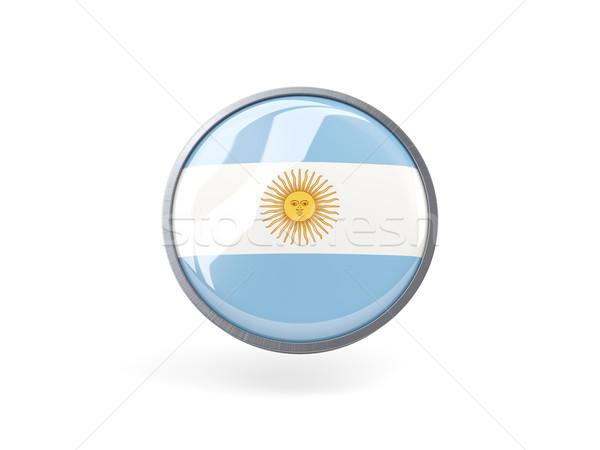 Ikon zászló Argentína fém keret utazás Stock fotó © MikhailMishchenko