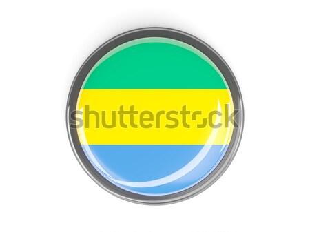 кнопки флаг Габон металл кадр путешествия Сток-фото © MikhailMishchenko