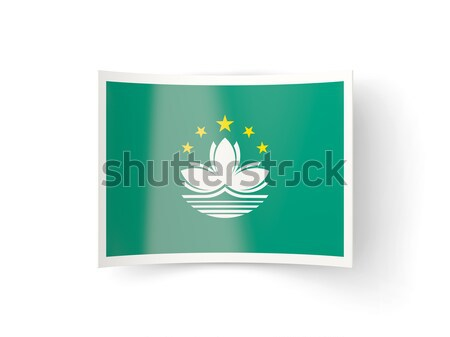 Square icon with flag of macao Stock photo © MikhailMishchenko