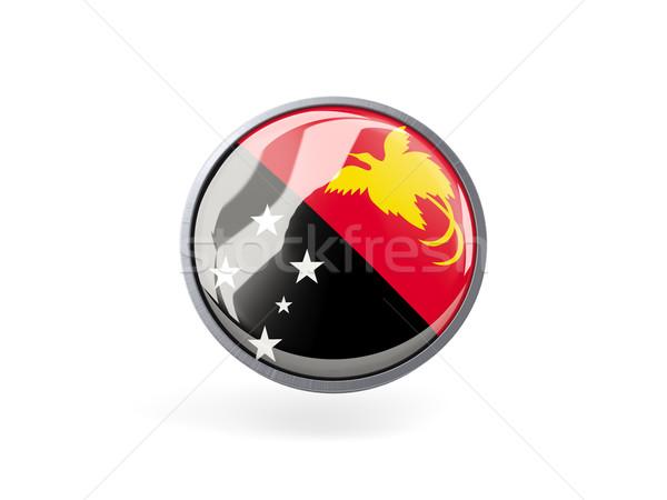икона флаг Папуа-Новая Гвинея металл кадр путешествия Сток-фото © MikhailMishchenko