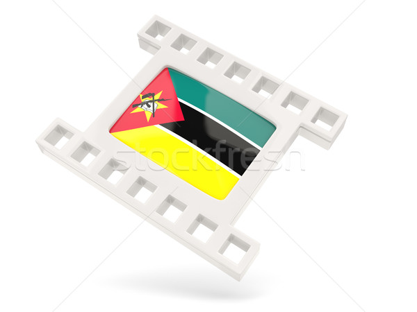 Filme ícone bandeira Moçambique isolado branco Foto stock © MikhailMishchenko