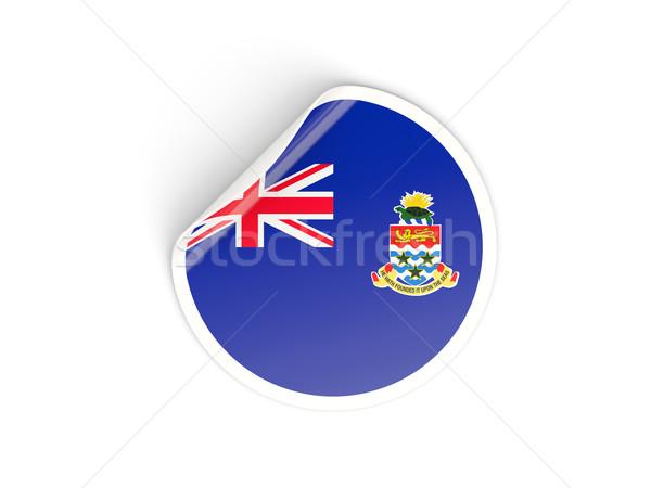 Round sticker with flag of cayman islands Stock photo © MikhailMishchenko