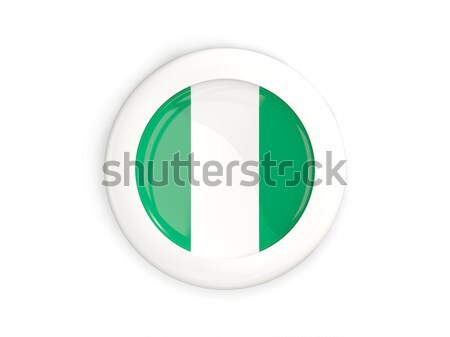 Adesivo bandeira Nigéria isolado branco viajar Foto stock © MikhailMishchenko