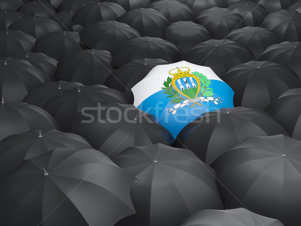 зонтик флаг Сан-Марино черный дождь Сток-фото © MikhailMishchenko