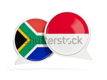 Knop vlag Seychellen metaal frame reizen Stockfoto © MikhailMishchenko