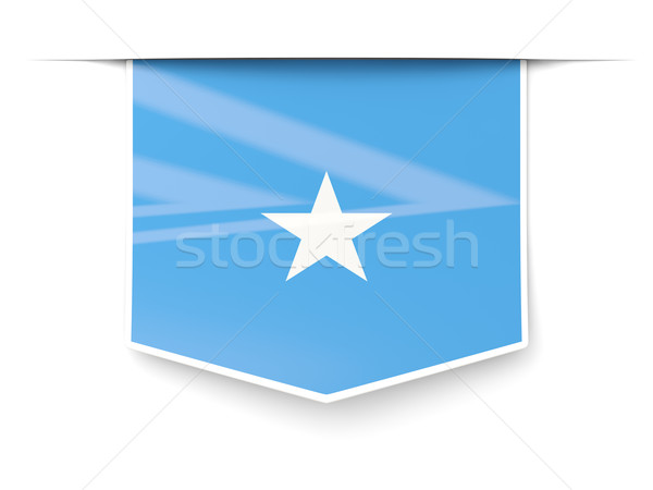 Carré étiquette pavillon Somalie isolé blanche Photo stock © MikhailMishchenko