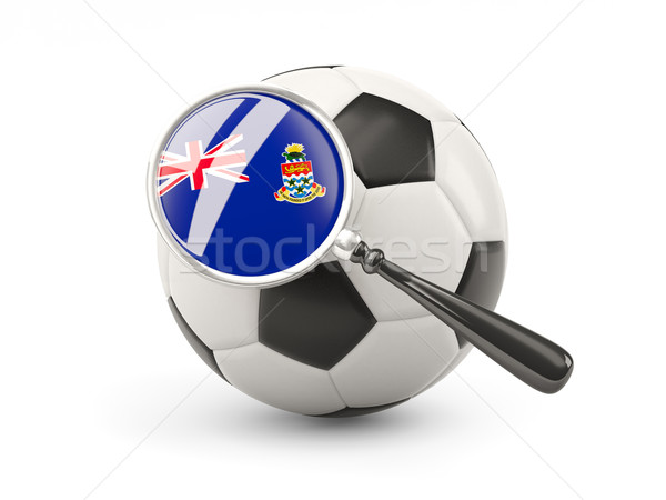 Football with magnified flag of cayman islands Stock photo © MikhailMishchenko