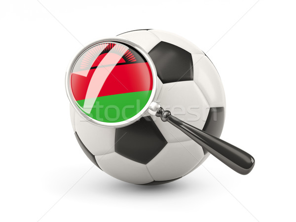 футбола флаг Малави изолированный белый Сток-фото © MikhailMishchenko