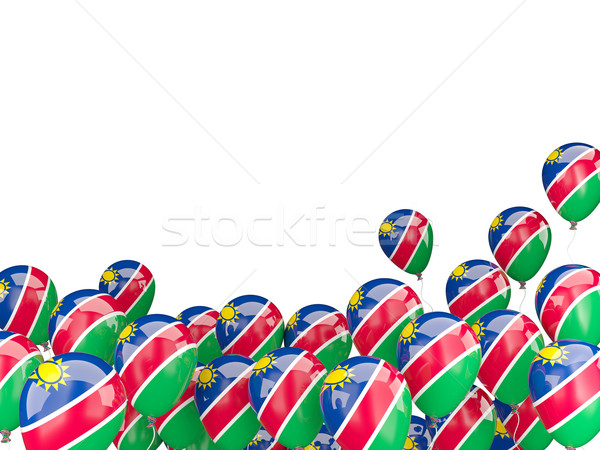 Uçan balonlar bayrak Namibya yalıtılmış beyaz Stok fotoğraf © MikhailMishchenko