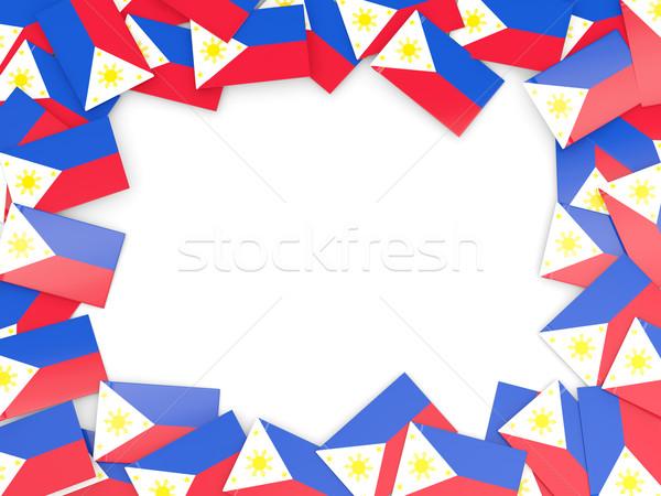çerçeve bayrak Filipinler yalıtılmış beyaz Stok fotoğraf © MikhailMishchenko