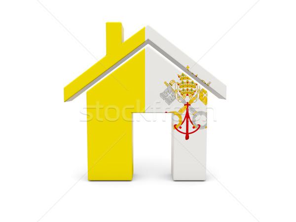 Ev bayrak Vatikan yalıtılmış beyaz ülke Stok fotoğraf © MikhailMishchenko