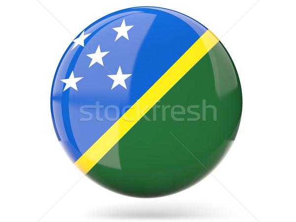 Round icon with flag of solomon islands Stock photo © MikhailMishchenko