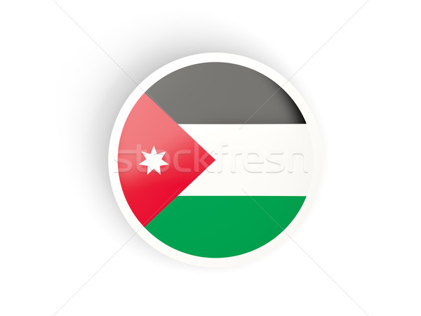 Round sticker with flag of jordan Stock photo © MikhailMishchenko