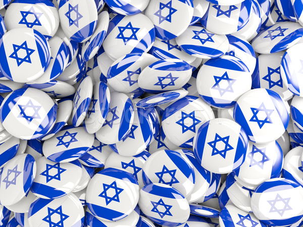 Background with round pins with flag of israel Stock photo © MikhailMishchenko