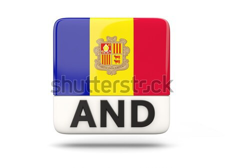 Square icon with flag of ecuador Stock photo © MikhailMishchenko