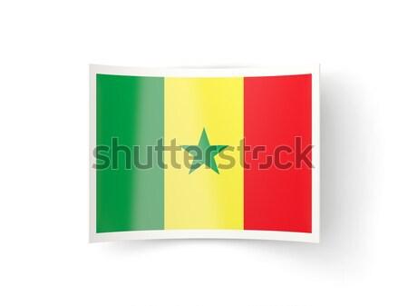 Icona bandiera Senegal isolato bianco paese Foto d'archivio © MikhailMishchenko
