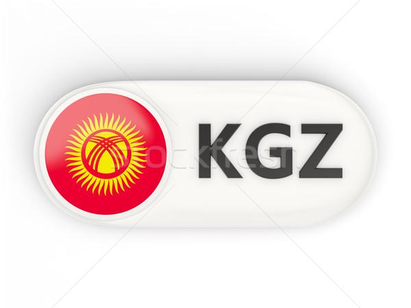 Ikon bayrak Kırgızistan iso kod ülke Stok fotoğraf © MikhailMishchenko