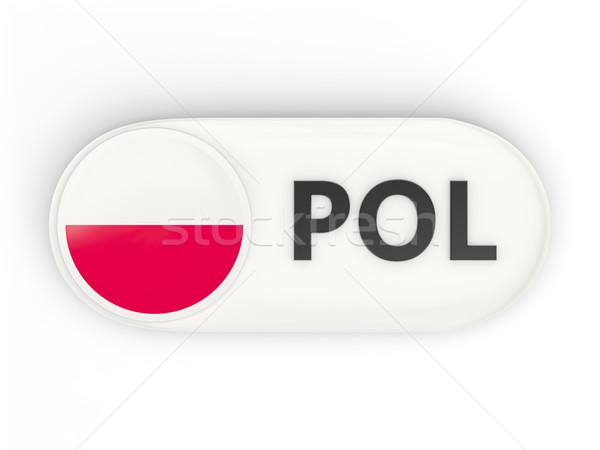 Icono bandera Polonia iso código país Foto stock © MikhailMishchenko