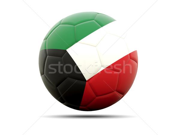 Futebol bandeira Kuweit ilustração 3d futebol esportes Foto stock © MikhailMishchenko