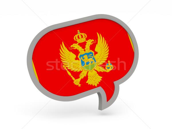 чате икона флаг Черногория изолированный белый Сток-фото © MikhailMishchenko