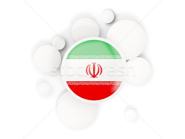 Round flag of iran with circles pattern Stock photo © MikhailMishchenko