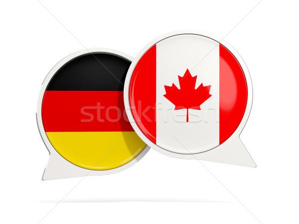 Sohbet kabarcıklar Almanya Kanada yalıtılmış beyaz Stok fotoğraf © MikhailMishchenko