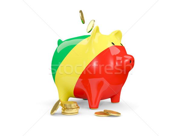 Tłuszczu banku piggy republika Congo ceny odizolowany Zdjęcia stock © MikhailMishchenko