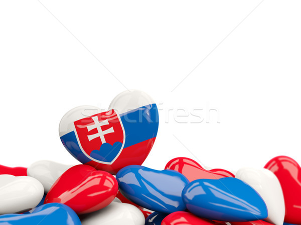 Hart vlag Slowakije top harten geïsoleerd Stockfoto © MikhailMishchenko
