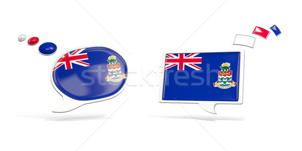 Two chat icons with flag of cayman islands Stock photo © MikhailMishchenko