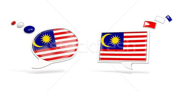 Kettő chat ikonok zászló Malajzia tér Stock fotó © MikhailMishchenko