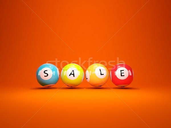 продажи торговых лотерея изолированный оранжевый Сток-фото © MikhailMishchenko