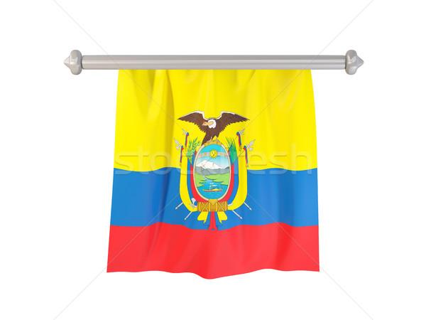 Pennant with flag of ecuador Stock photo © MikhailMishchenko