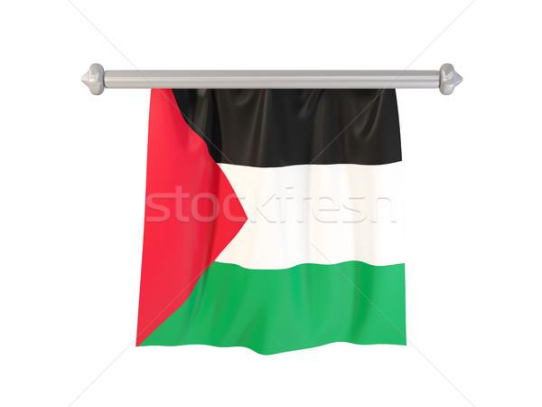 Zászló terület izolált fehér 3d illusztráció címke Stock fotó © MikhailMishchenko