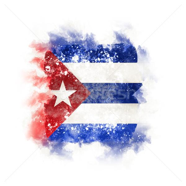 Placu grunge banderą Kuba 3d ilustracji retro Zdjęcia stock © MikhailMishchenko