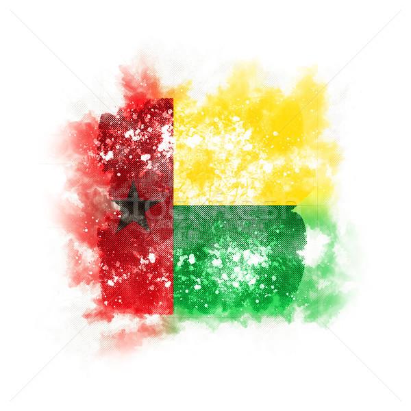 Square grunge flag of guinea bissau Stock photo © MikhailMishchenko