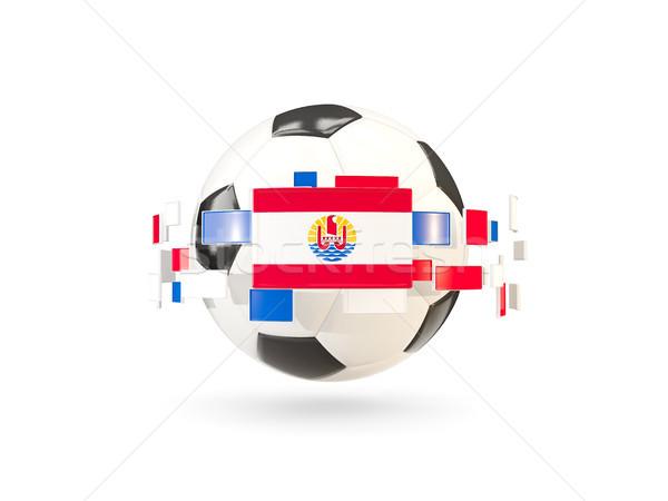 Soccer ball line bandiere bandiera francese polinesia Foto d'archivio © MikhailMishchenko