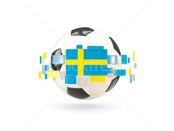 サッカーボール 行 フラグ フラグ スウェーデン ストックフォト © MikhailMishchenko