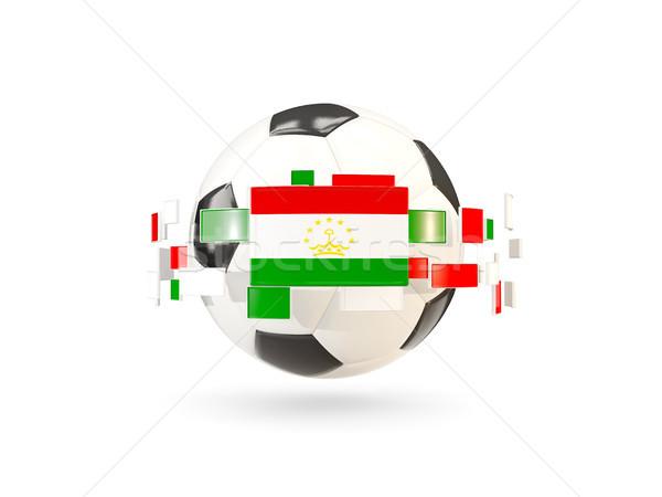 футбольным мячом линия флагами флаг Таджикистан Сток-фото © MikhailMishchenko