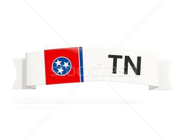 Tennessee pavillon bannière abréviation isolé blanche Photo stock © MikhailMishchenko