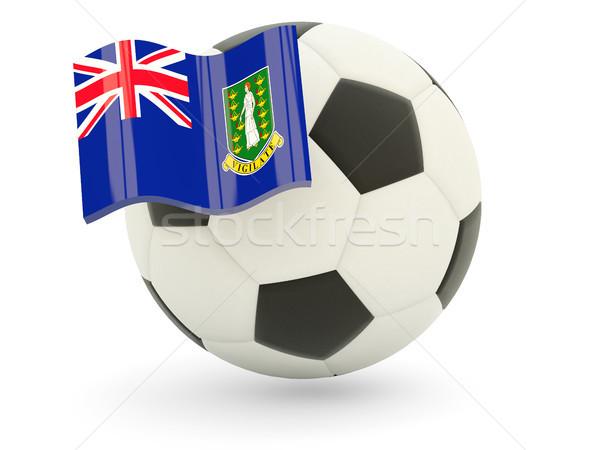 Voetbal vlag Virgin Islands brits geïsoleerd witte Stockfoto © MikhailMishchenko