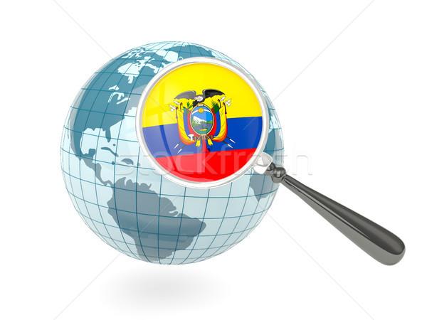 Zdjęcia stock: Banderą · Ekwador · niebieski · świecie · odizolowany